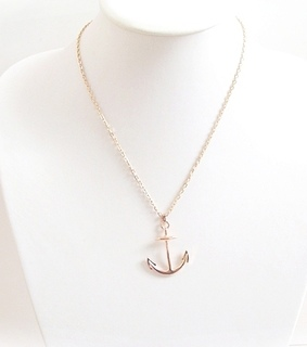 accessoires, anchor and anchor necklace