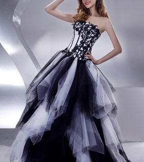 ball gown, black and dress