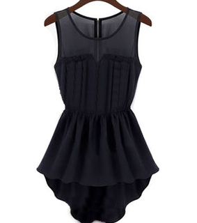 black dress, chiffon dress and mini black dress