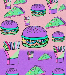awesome, burger and colorfull