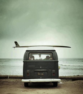 beach, hipster and kombi