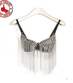 bustier, kette and mode