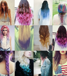 amasing, beautiful and dip dye