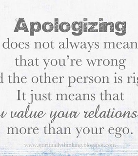 apologizing, quotes and relationship