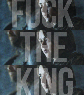 arya stark, game of thrones and king