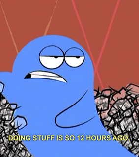 bloo, cartoon and funny