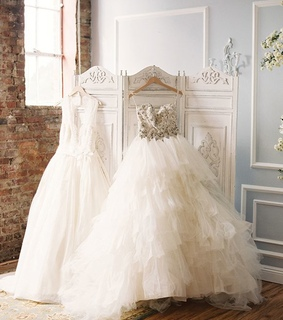 a-line wedding dress, dress and wedding
