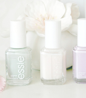 essie, flowers and light colors