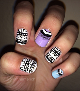 aztec, aztec nails and fashion
