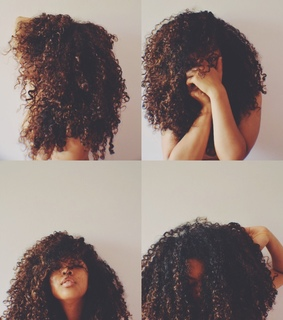 curls, curly hair and girl