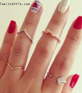 amazing nails, beautiful rings and beauty