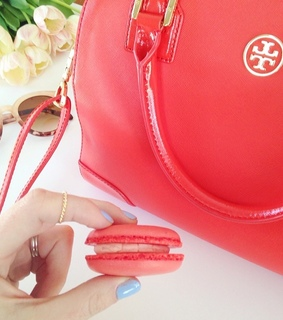 coral, laduree and tory burch