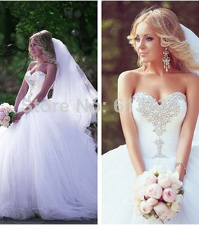 ball gown, crystal and gown