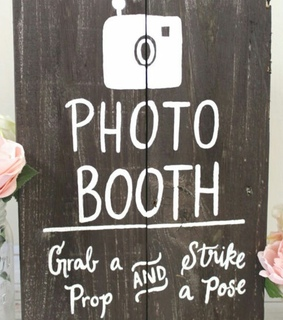 diy, photo booth and props