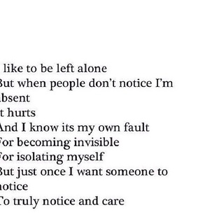 alone, hurt and left