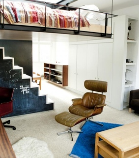 modern design, small apartment and innovative bed design