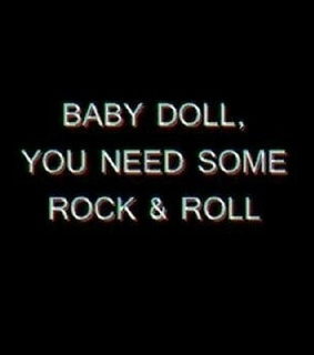 baby doll, black and black and whote
