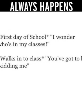 class, damn and first day