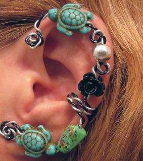 cartilage, earcuff and earring