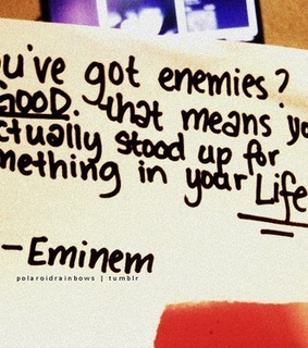 eminem, good and got enemies
