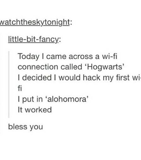 harry potter, hogwarts and wifi