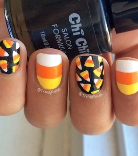 beauty, black nails and candy corn