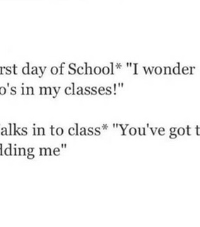 class, first day and school