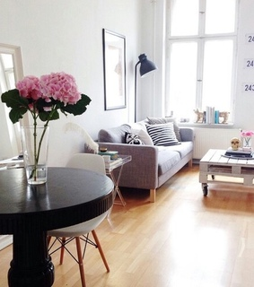 appartement, black and white and cozy