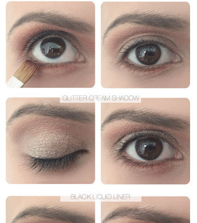 glitter makeup, glitter makeup ideas and glitter eye makeup