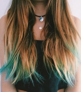 blue, dye and girl