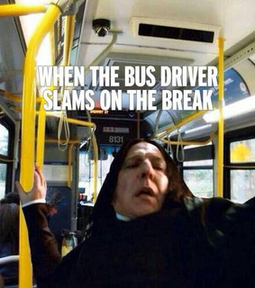 bus, fall down and harry potter