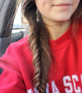 braid, brunette and cosy