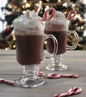 candycane, cocoa and drink