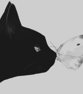 animal, art and black and white