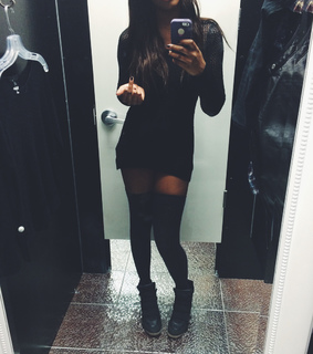 all black, black and black outfit