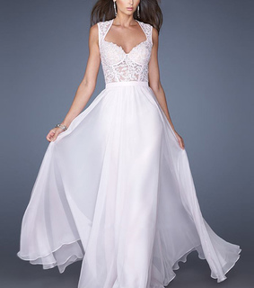 pale pink and prom dress 2014