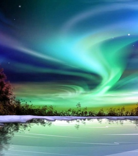 finland, northern lights and winter