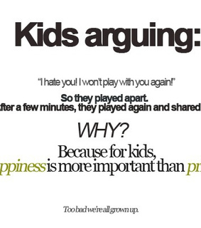 arguing, kids and play
