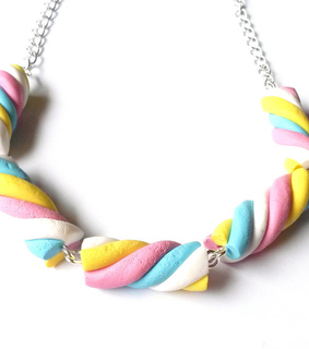 cute necklace, diy and food jewelry