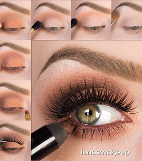 beauty, blending and eye makeup