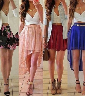 dresses, high low and summer