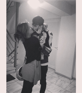 black and white, couple and cute