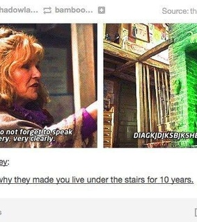 diagon alley, funny and harry potter