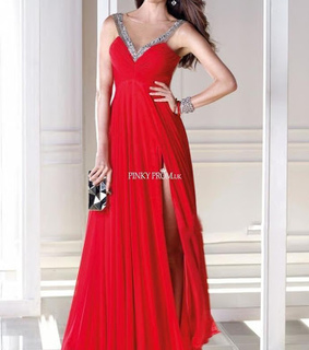 prom gown, red dress and red prom dress