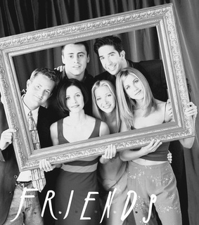 black and white, friends and jennifer aniston