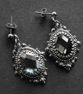 earrings, etsy and goth