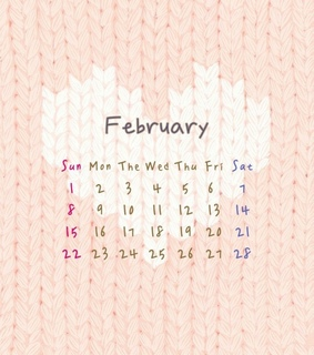 background, calender and february