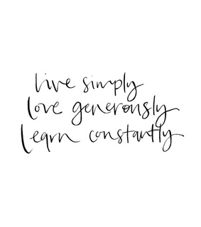 constantly, learn and live