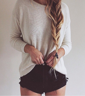 beautiful, blondehair and braid