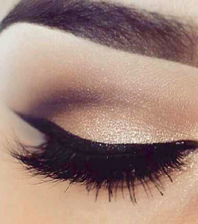 beautiful, black eyeliner and cute